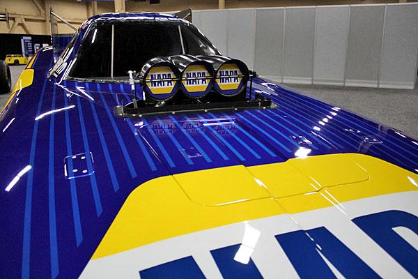 NAPA EXPO cars Ron Capps Funny Car blower