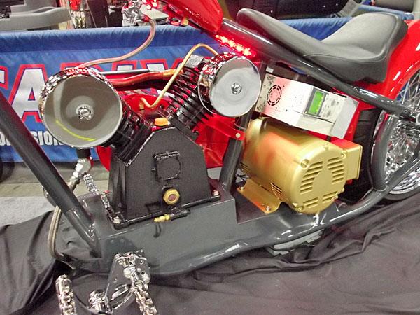 NAPA EXPO cars air compressor chopper detail