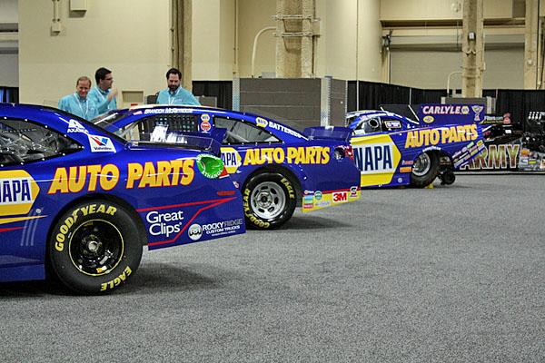NAPA EXPO cars race cars