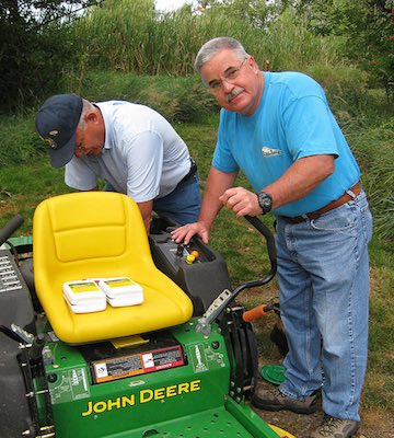 Lawn mower oil change by USFWS Mountain-Prairie on Flickr