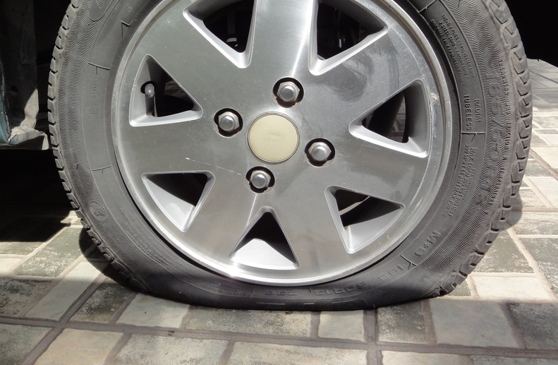 Low tire pressure.