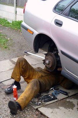 Performing car maintenance