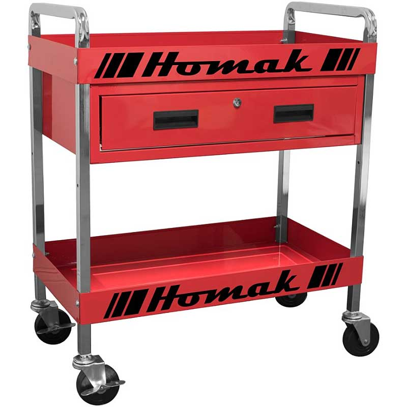 Most kids have toy boxes, Dads need them too. A service cart like this one are very handy in the garage.