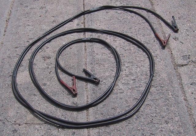 Jumper cables.