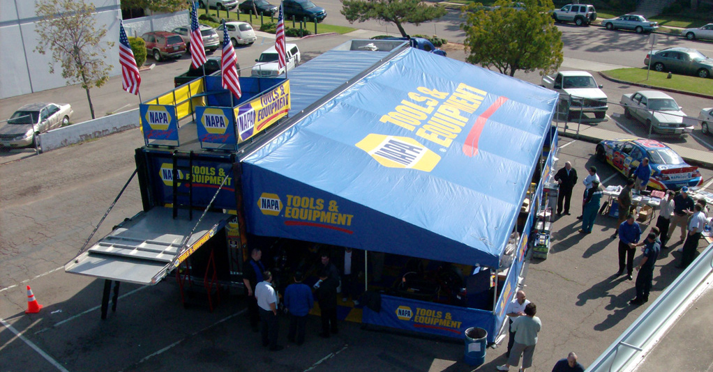 NAPA Tools and Equipment Rock & Roll Sales truck