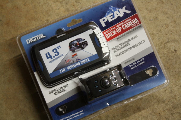 Peak Wireless Backup Camera Monitor Suction Mount