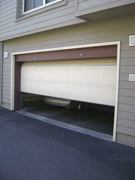 A stuck garage door may point to a cable or trolley problem.