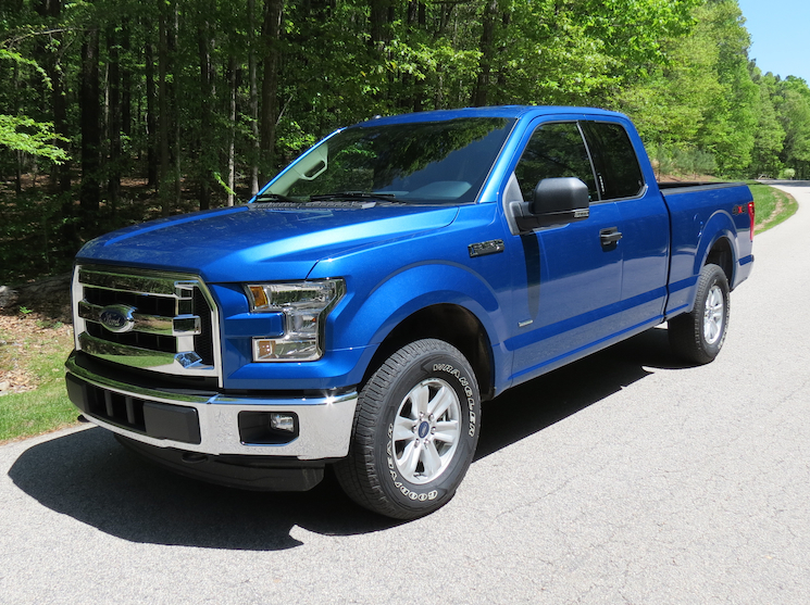 The hot sun beats down on Ford F-150 pickup truck.