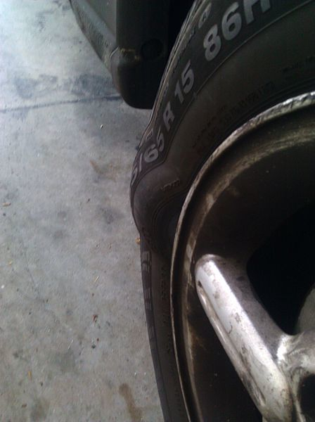 Not all tire problems are as obvious as this one.