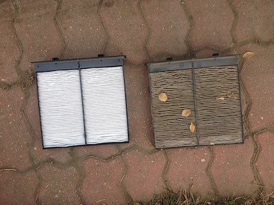 Cabin Air Filter: Clean vs. Dirty