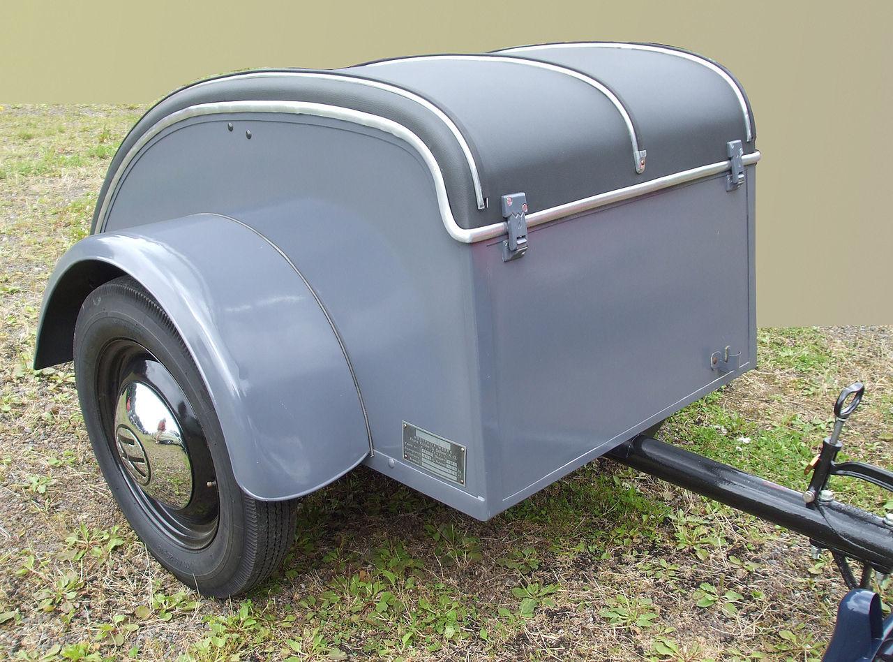 Old travel trailer