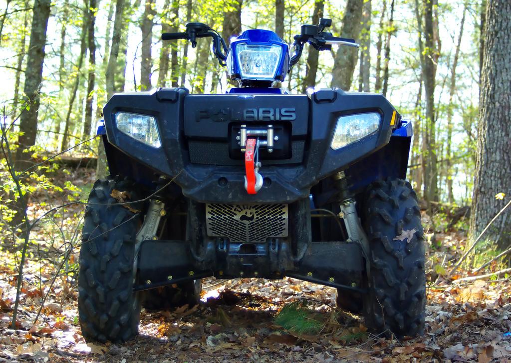 ATV in woods