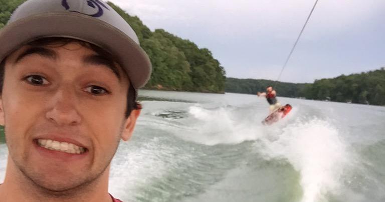 Chase Elliott wakeboard