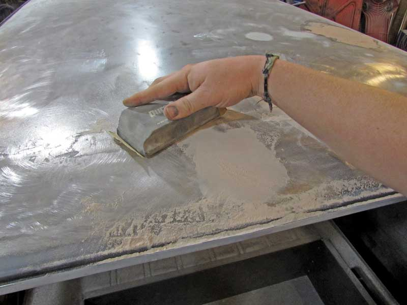 Always use an X pattern to sand the repair. This keeps the repair flat and not wavy.