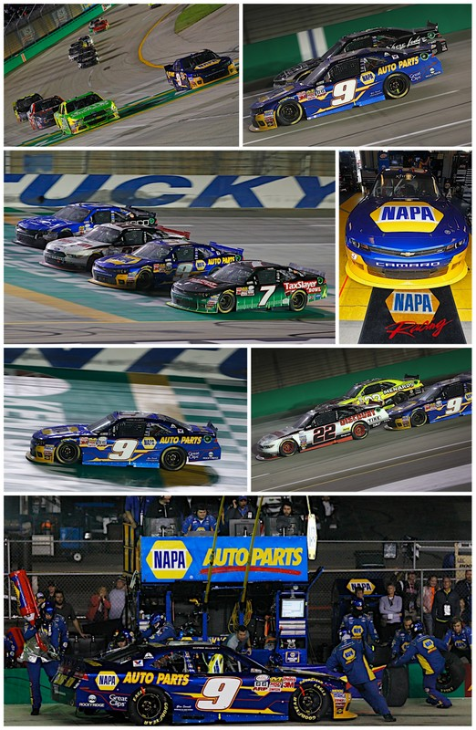 Chase Elliott NAPA AUTO PARTS Chevrolet Kentucky Speedway VisitMyrtleBeach.com 300 2015 collage
