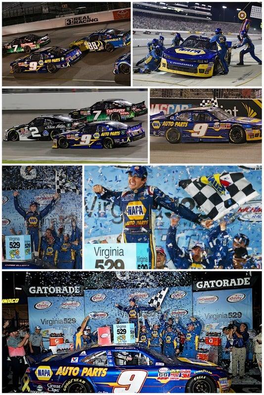 Chase Elliott wins Richmond 2015 NAPA AUTO PARTS JR Motorsports collage
