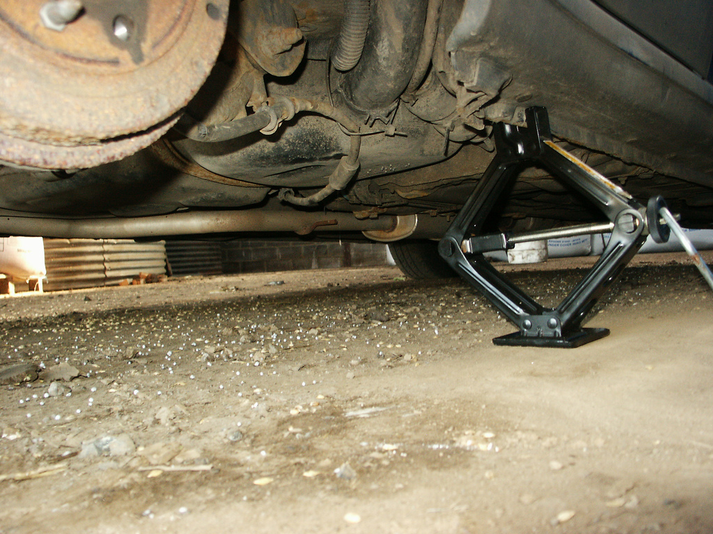 Scissor Jack for Changing a Tire, and Not Much Else