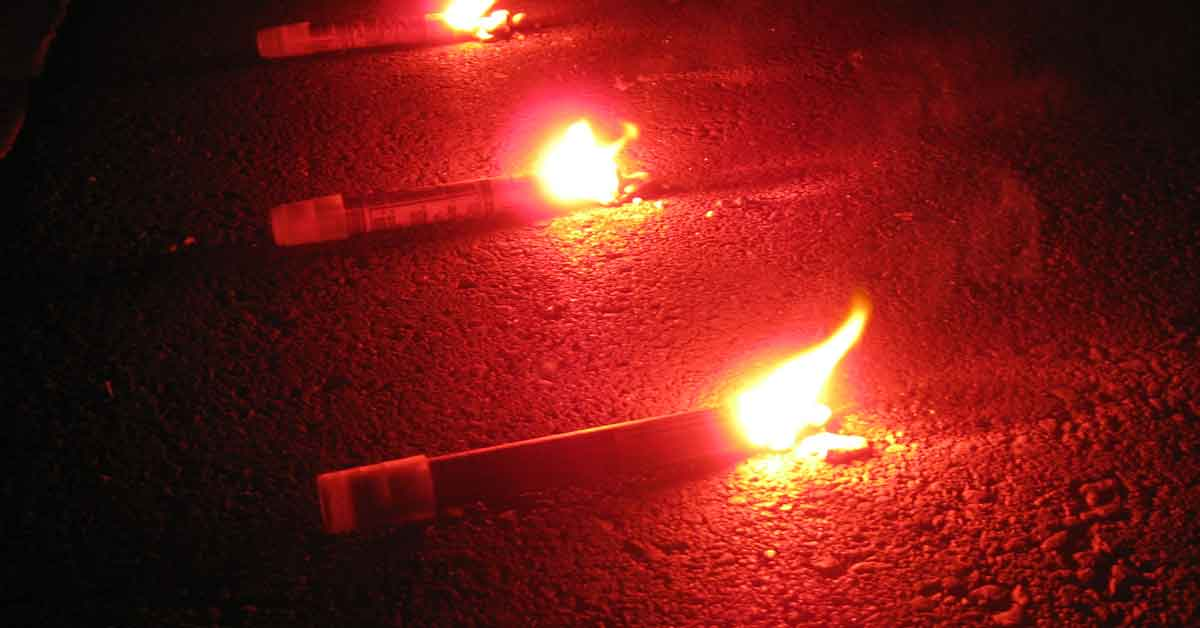 Road flares.