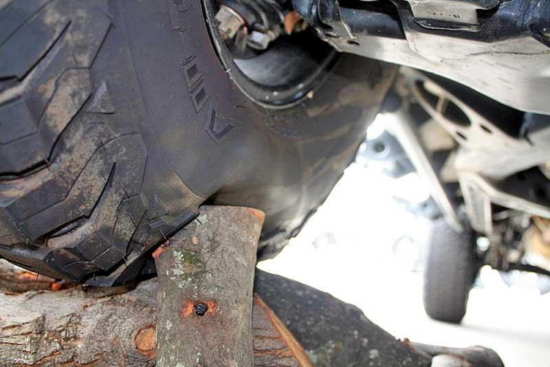 best tires for work trucks - BFG all-terrain tire KO2 shown