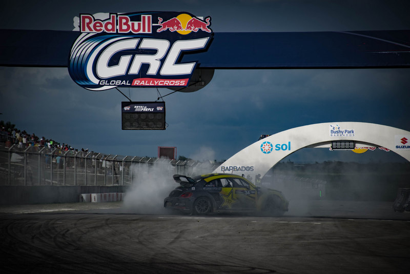 Tanner Foust Red Bull GRC Barbados victory drift