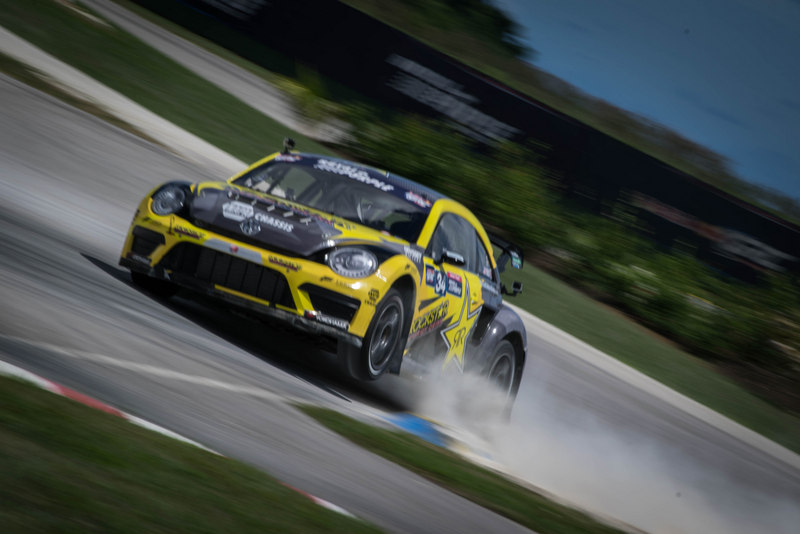 Tanner Foust Red Bull GRC Barbados victory wheel up