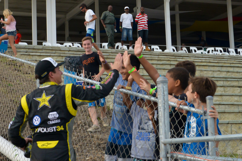 Tanner Foust Red Bull GRC Barbados victory young fans