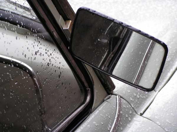 Wet Car Window