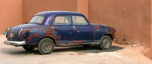 Old, unsafe car