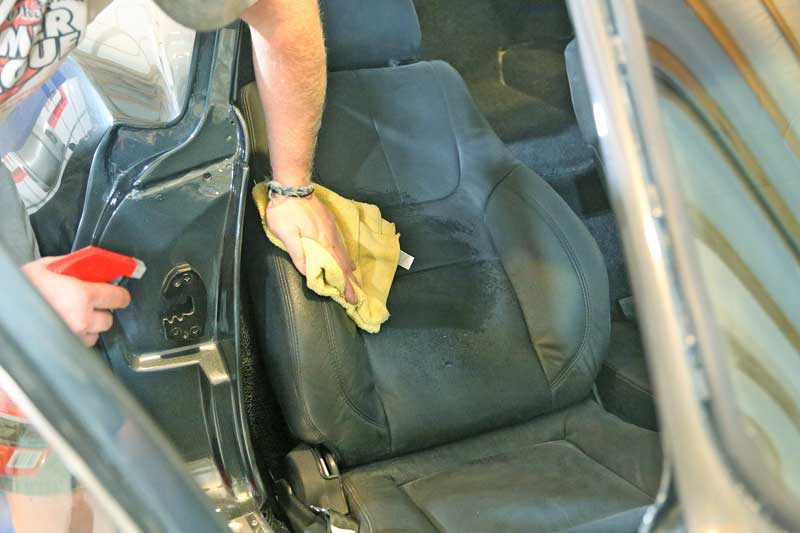 Don't just wipe the leather, it needs to be massaged into the upholstery.