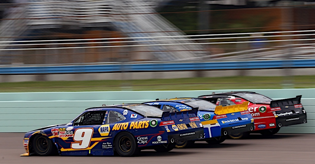 Chase Elliott at Homestead-Miami Speedway.