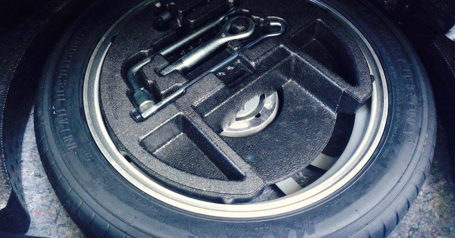 Run-flat spare tire.