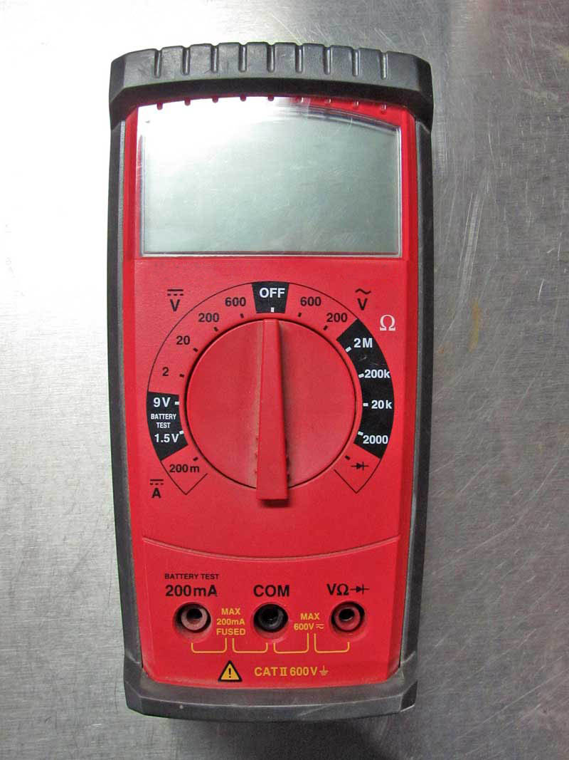 We will demonstrate the various settings of a DVM or Digital Volt Meter with this unit. These are universal symbols and work on every DVM available.
