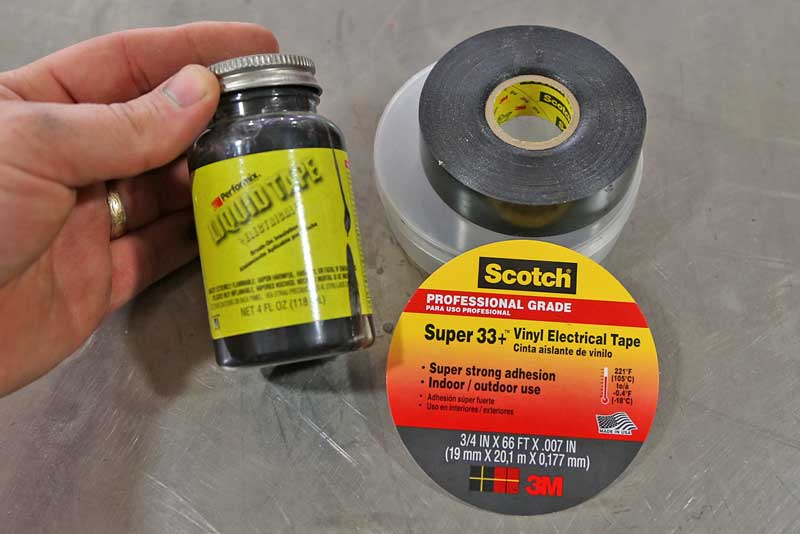 Use quality 3M Super 33 electrical tape or liquid electrical sealer to keep the moisture out and the electricity in.