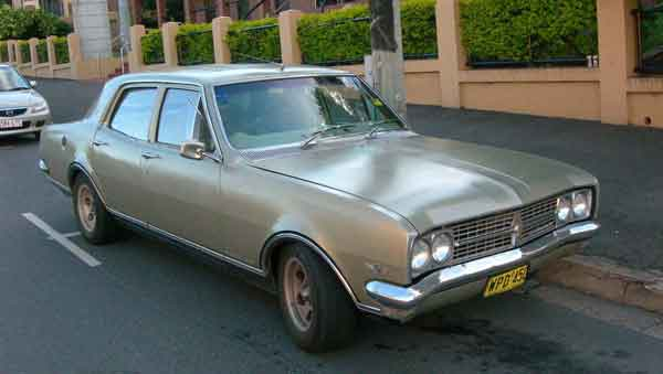 old Holden sedan