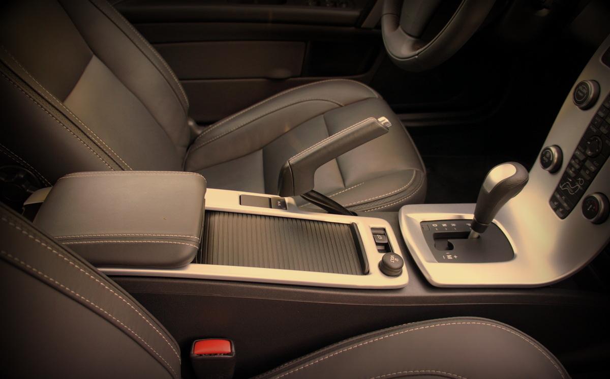 A clean car interior