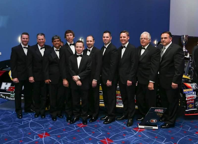 Chris Eggleston 2015 NASCAR KN Pro Series West Champion Bill McAnally Racing NAPA AUTO PARTS 99 Champions