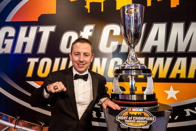 Chris Eggleston 2015 NASCAR KN Pro Series West Champion Bill McAnally Racing NAPA AUTO PARTS 99 Trophy Ring