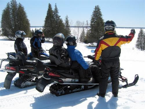 One- and two-man snowmobiles provide access to important trails across the country.