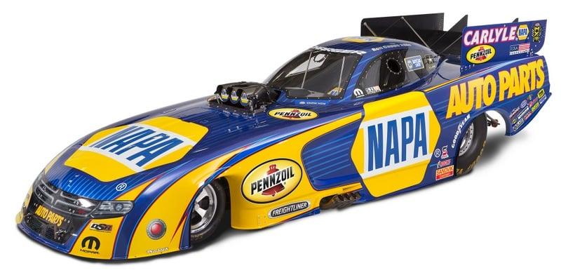 Don Schumacher Racing Ron Capps NHRA NAPA AUTO PARTS Funny Car 2016 paint scheme