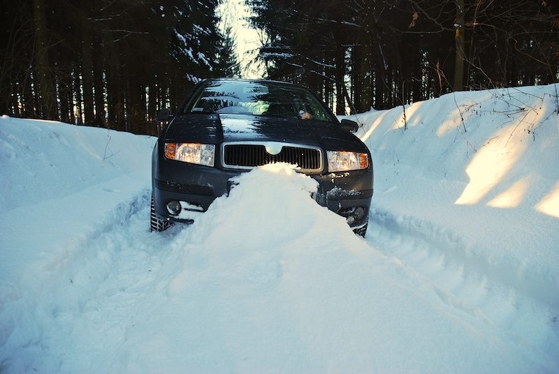 Car Trapped by Snow