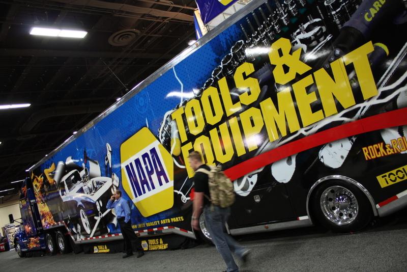 NAPA AUTO PARTS Atlanta Main Counter Grand Reopening tool clearance Rock-N-Roll Tool Trailer Expo