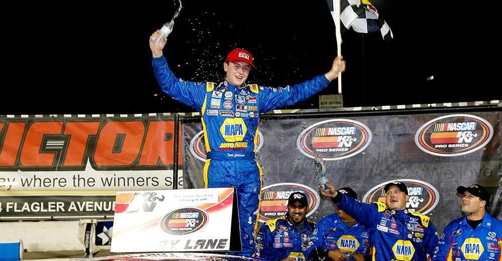 Todd-Gilliland-NAPA-AUTO-PARTS-BMR-NASCAR-KN-Pro-Series-New-Smyrna-Win-Checkered
