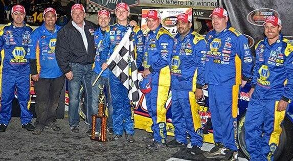 Todd Gilliland NAPA AUTO PARTS BMR NASCAR KN Pro Series New Smyrna Win Team