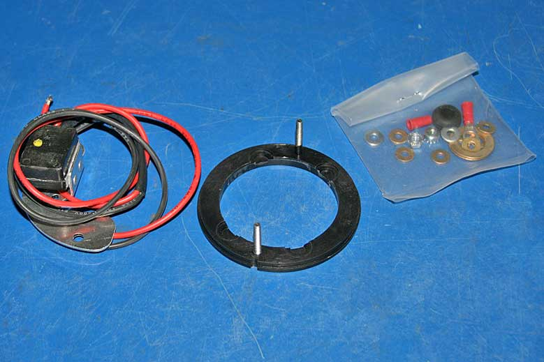 The Pertronix Ignitor kit comes with all the parts you need. It is suggested that you use the Pertronix Flamethrower coil, but you don't have to.