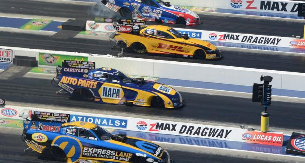 Four-Wide Nationals NHRA zMAX Charlotte Ron Capps NAPA AUTO PARTS