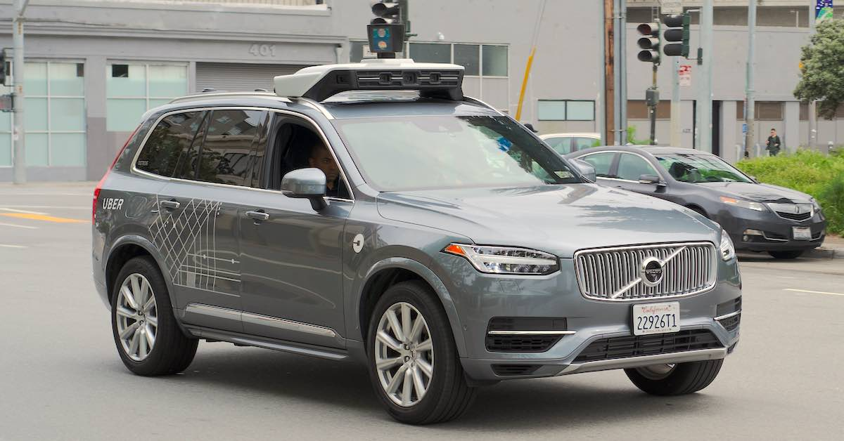 Self-driving car on the streets