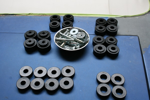 A bushing kit should come with all the parts needed to replace the originals. There may be a few original components reused.
