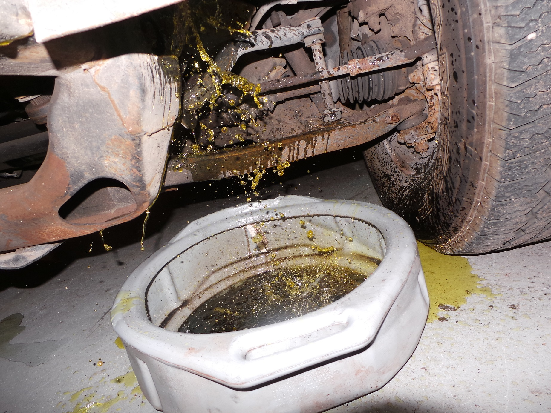 Draining the coolant is necessary, make sure it is properly disposed off.