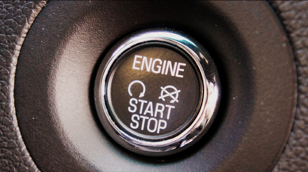 A push to start button