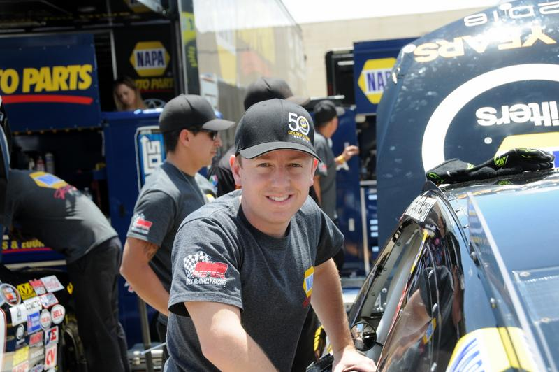 Eggleston NASCAR K&N West Orange Show win BMR NAPA Filters garage